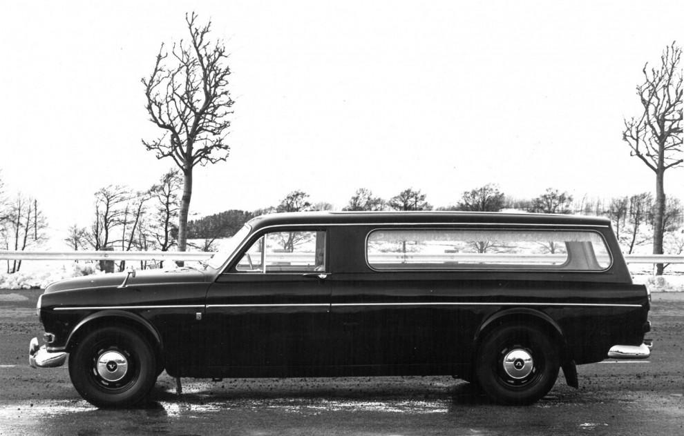 Volvo Amazon begravningsbil tillverkad av Yngve Nilssons Karosserifabrik