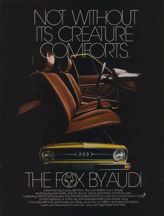 Audi 80 hette Fox i USA.