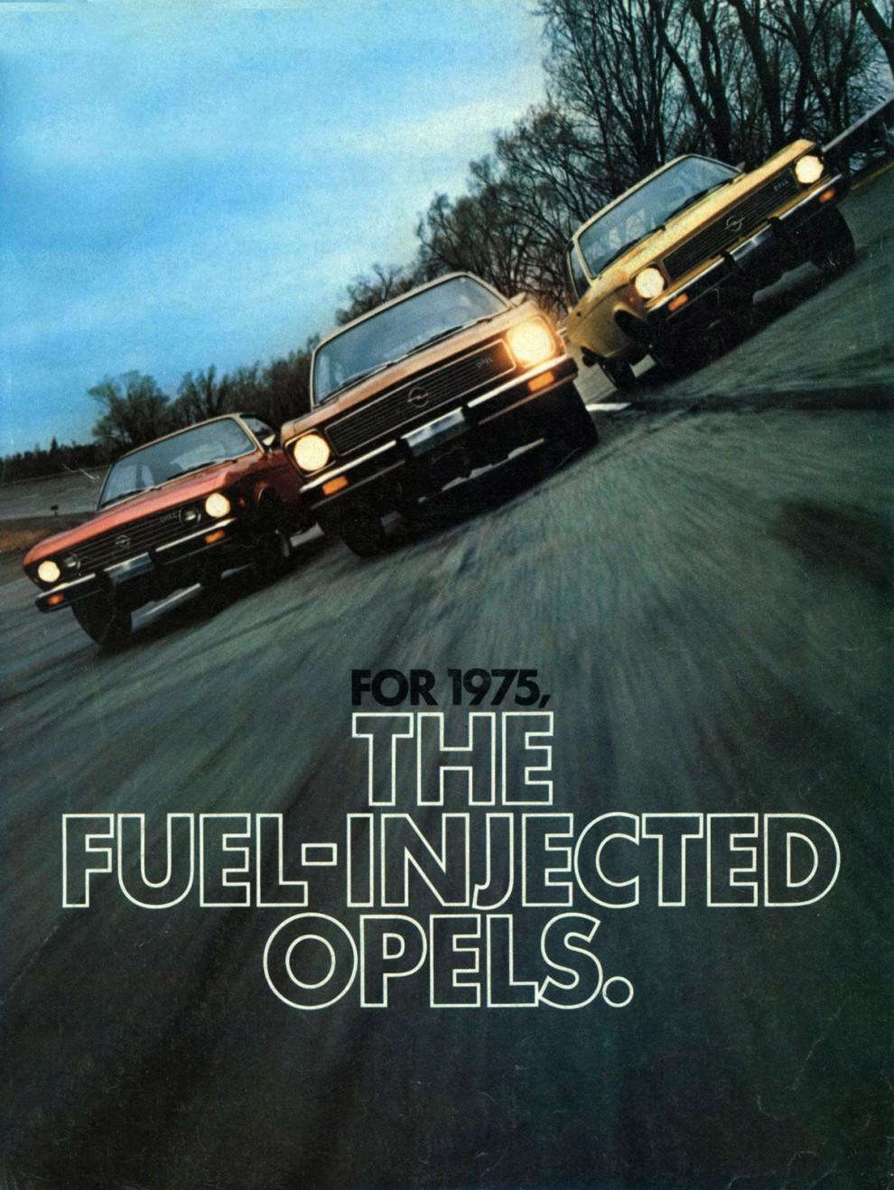 Opel såldes genom Buick under många år, här 1975 års modeller.