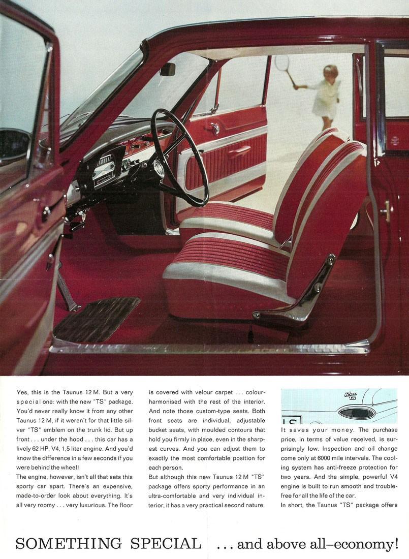 Så här elegant visade man Ford Taunus 12M 1964.