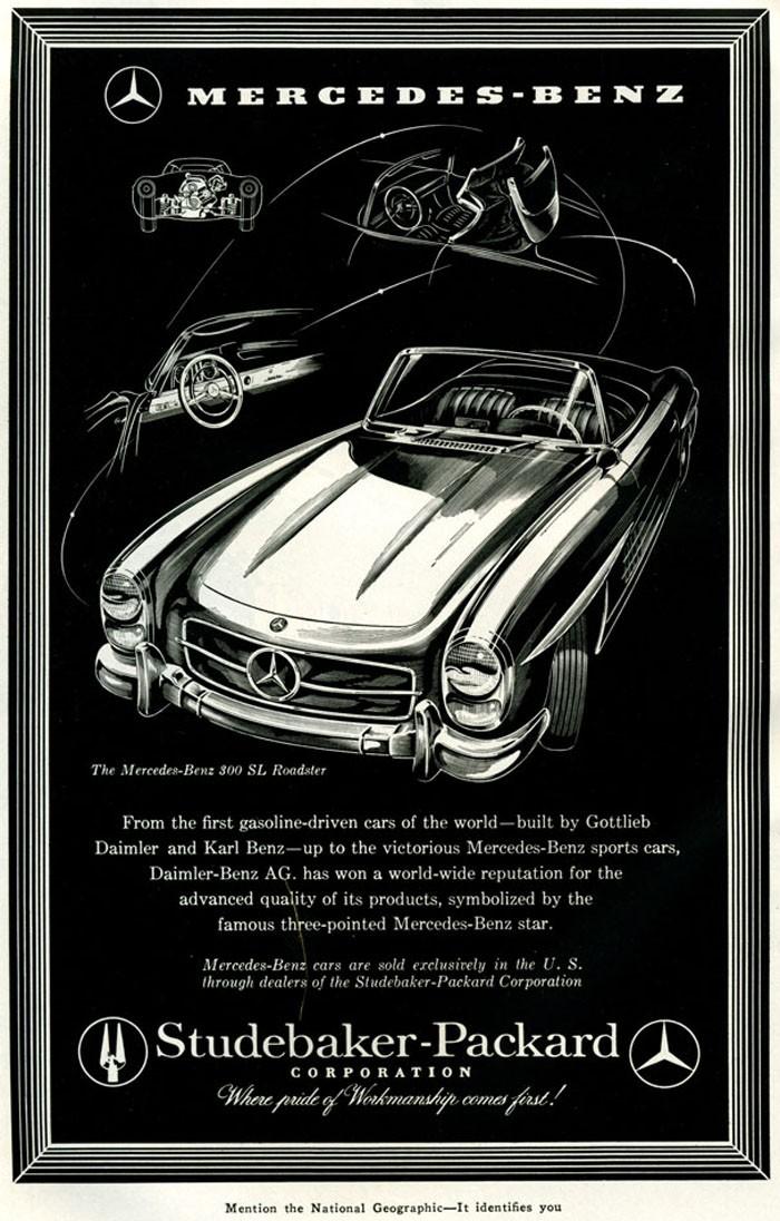 Mercedes-Benz 300SL 1958, genom  Studebaker-Packard corperation.