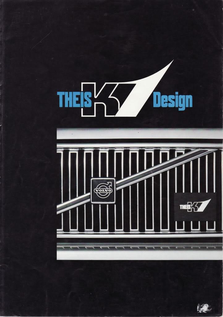 Påkostad broschyr med text på engelska och tyska från Theis K1.