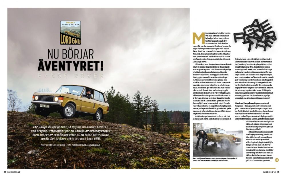 Lord GNU – projektstart för vår Range Rover!