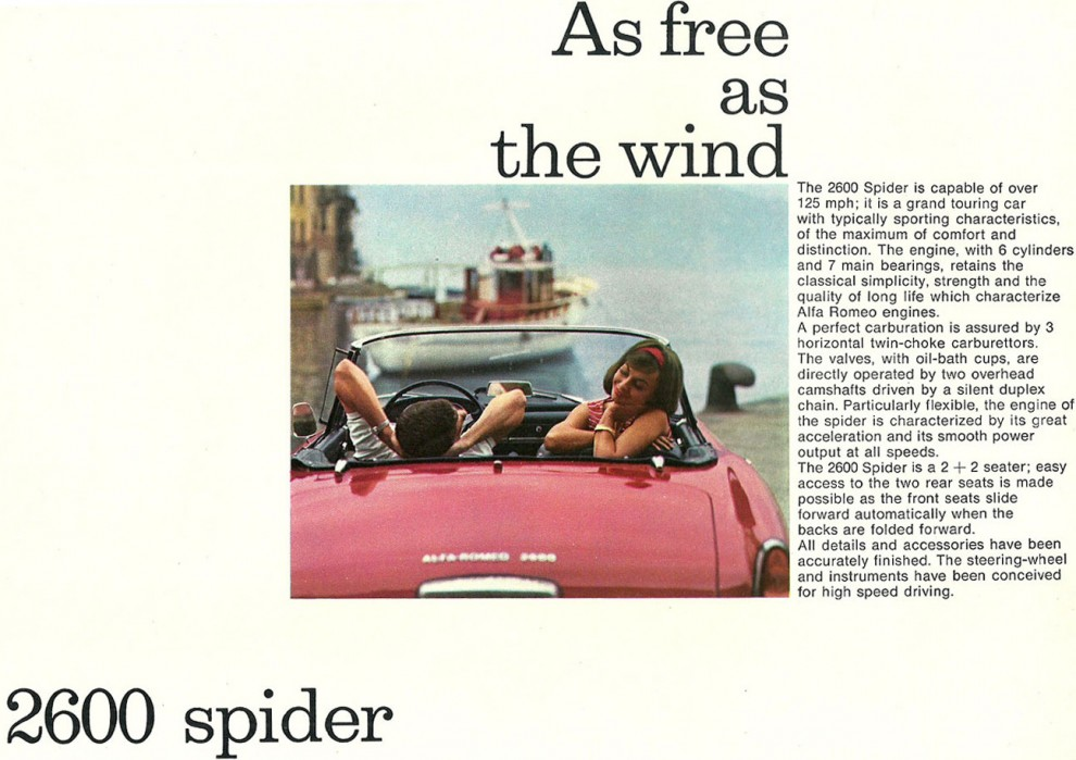 Free as the wind med Alfa 2600 SPider