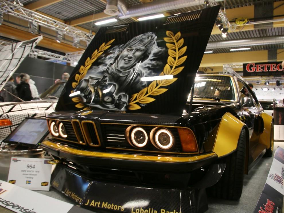 Och här ett annat konstverk med hyllning till Ronnie Peterson