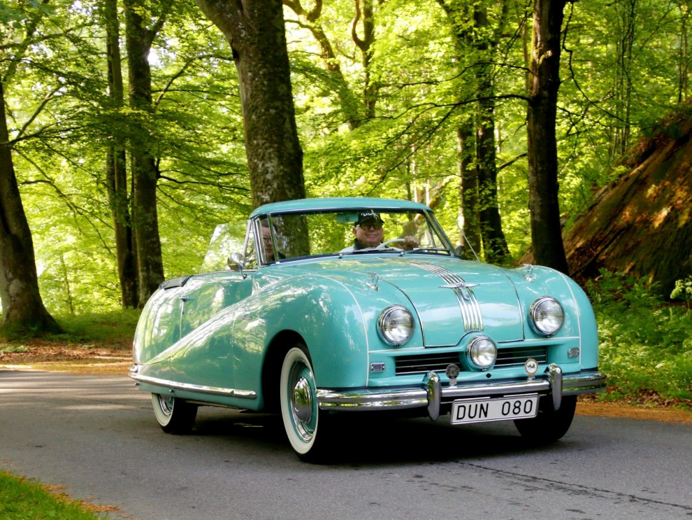 Austin A90 Atlantic var en flamboyant modell, gjorde 1949-1952 och blev inte den succé man hoppades på. Jaguar XK120 hade precis kommit och stal showen.