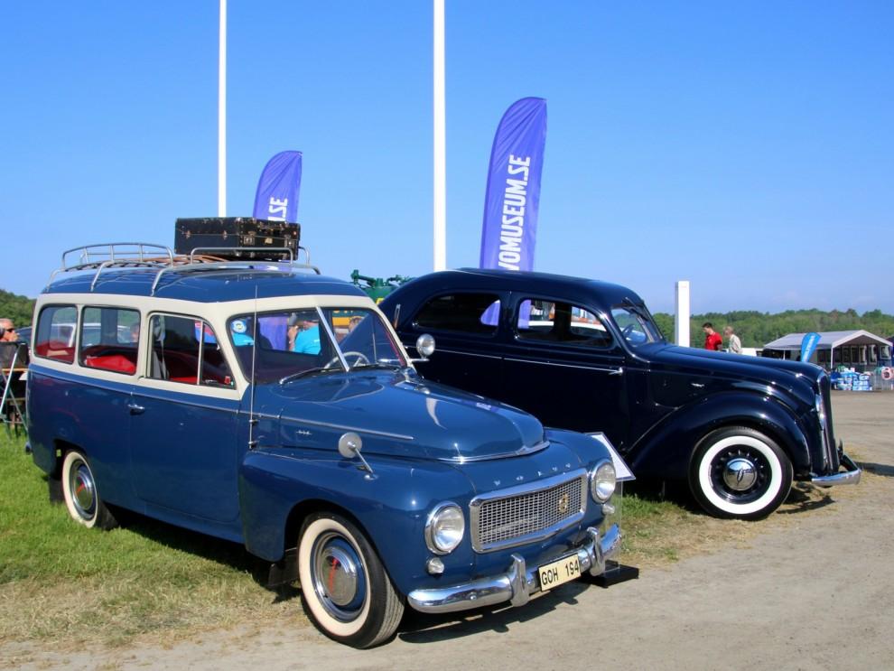 Volvomuseet ställde ut några av sina bilar. Duett och Carioca
