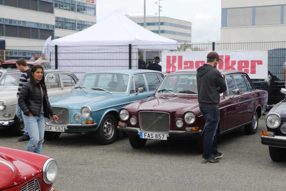 50-årsjubilerande Volvo 164 uppmärksammades på söndagens träff.