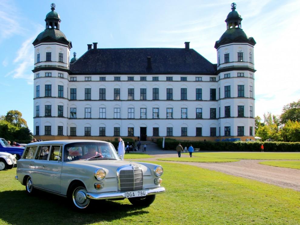 Sällsynt Safari vid slottet. Mercedes ovanliga kombimodell som egentligen inte var deras egna.