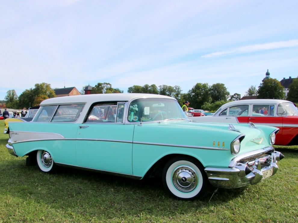Den lyxiga tvådörrarskombin Nomad fanns bara 1955-57, här är den sista årsmodellen.