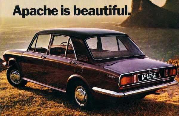 Austin Apache var i grunden en Austin 1300 som försökte likna en Triumph 2000.  Apachen byggdes i Sydafrika 1971-77