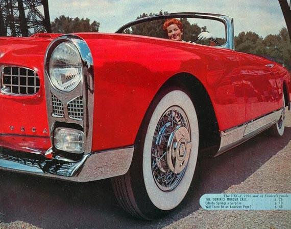 Fina, sällsynta och väldigt röda Facel Vega FV-1 cabriolet
