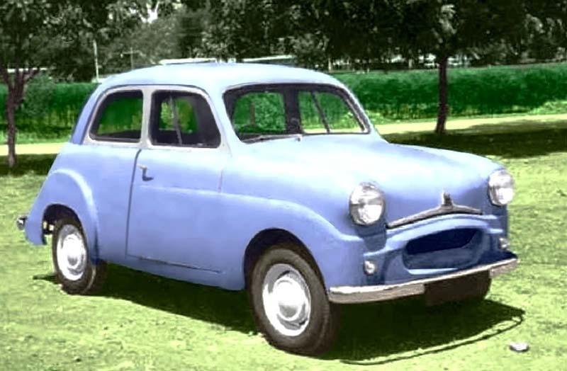 När Standard försvann i England kom de byggas vidare i Indien, och där kom denna märkliga Stanmobile till. Det är en kortad tvådörrars Standard Eight. Idén till en lill-Standard stannade dock vid detta enda exemplar.
