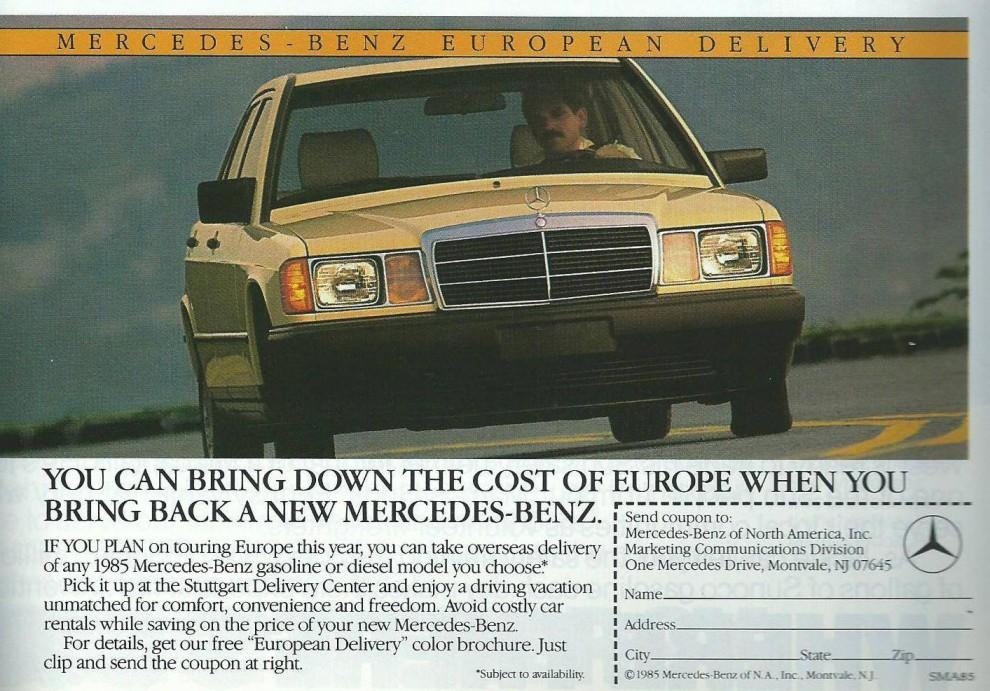 Mercedes-Benz var sedan länge väletablerat i USA. Här erbjöd man också en rad dieslar som inte gick att få i Europa.
