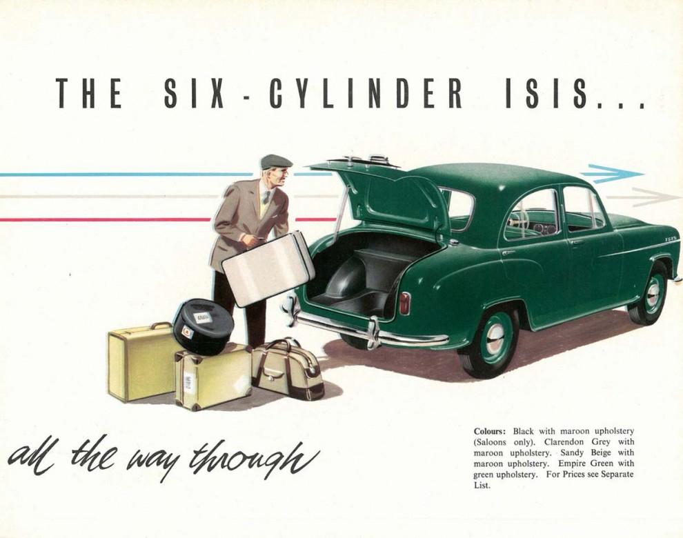 Morris Isis var stor, rymlig men blev ändå inte populär.  Den sista stora bilen från Morris lades ner 1958 efter bara tre år.