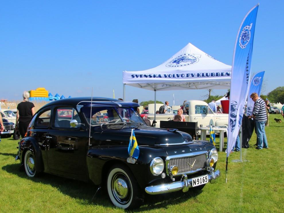 Volvo PV-klubben hade dragit ihop många fina PV och Duetter