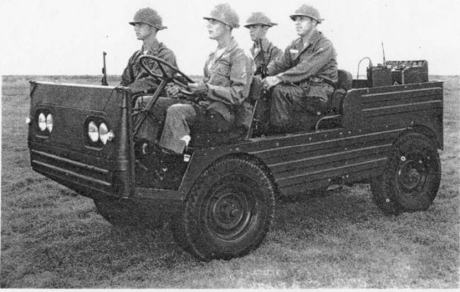 En alternativ Jeep, XM443 under utprovning 1957