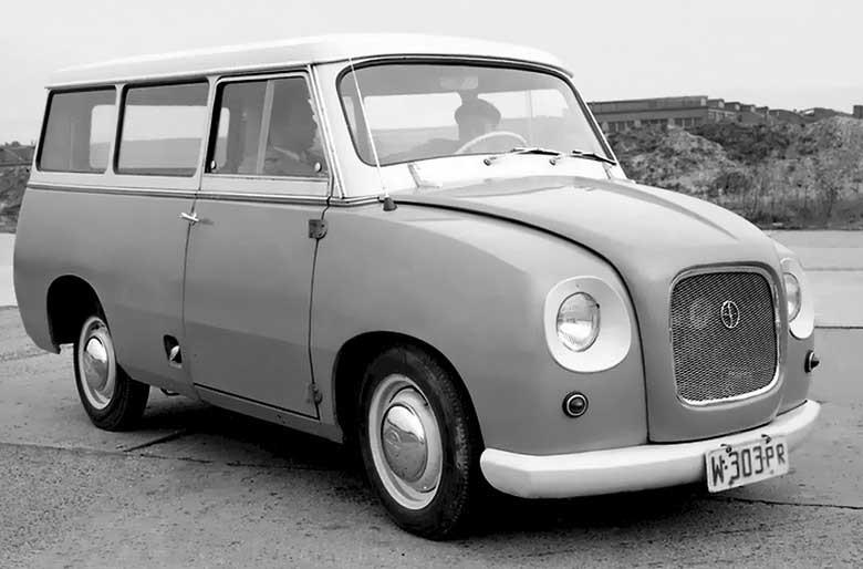 Praktiskt från Polen, mikrobuss från Syrena 1960