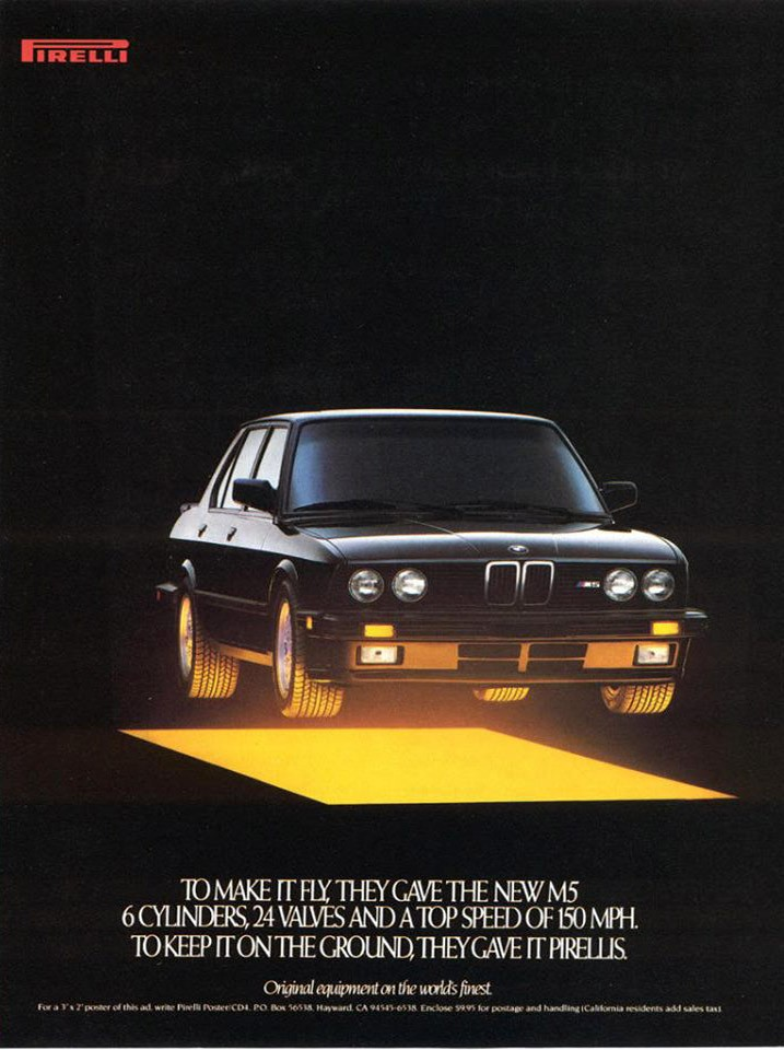 Upplyftande med Pirelli 1987