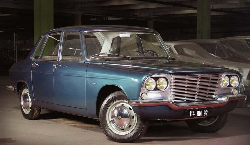 Renault project 114 genomgick ett antal metamorfoser, här från Ghia 1961