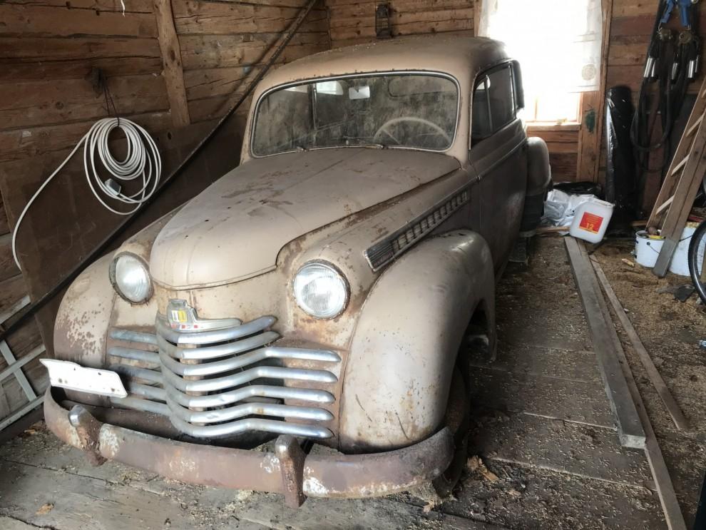Bilder: Ladufyndad Opel på auktion