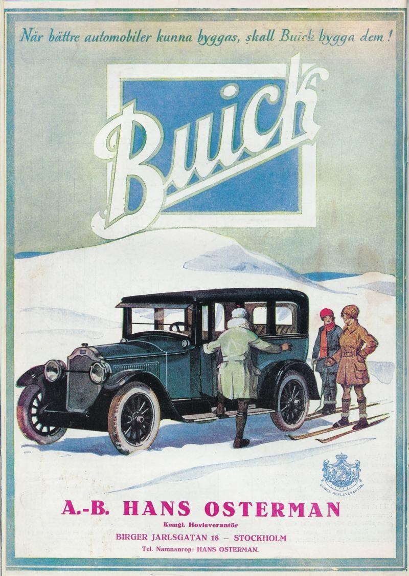 When better cars are built, Buick will build them. Så löd Buicks berömda slogan och här i svensk översättning 1928.