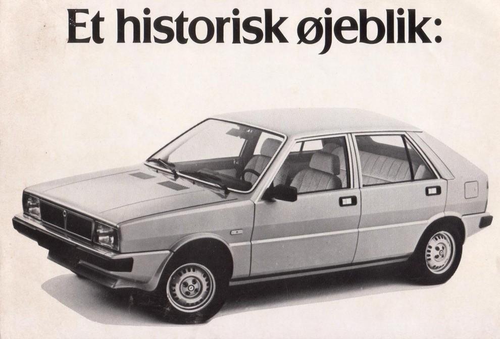 Saab-Lancian såldes även i Danmark