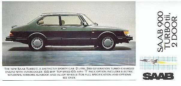 900 Turbo tii var en special för ENgland, 1986