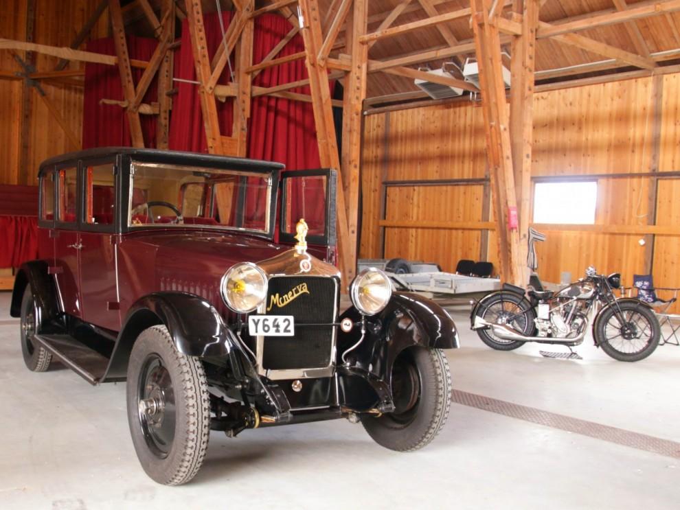 Premiärvisning av Minerva 1928, denna bil har inte visats upp på närmare 90 år! Den ställdes undan redan 1934, räddades på 70-talet och började renoveras. Nu har en ny ung entusiast tagit över för att slutföra renoveringen.