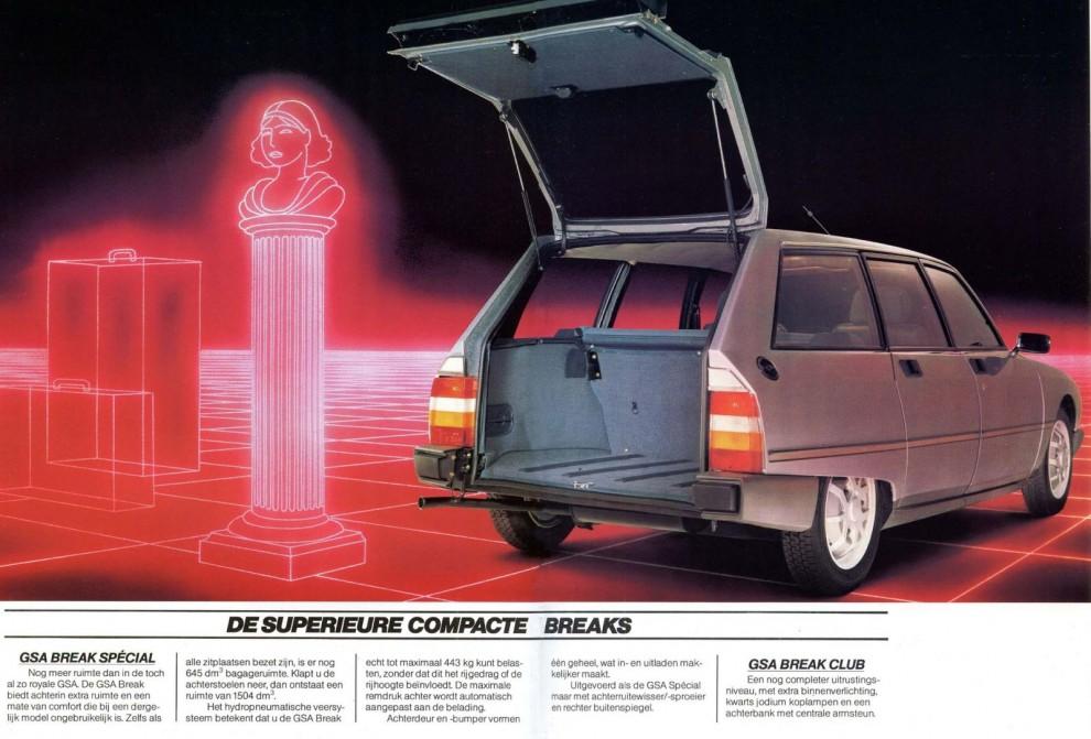 Citroën GSA break, så futuristiskt det kunde bli 1983.