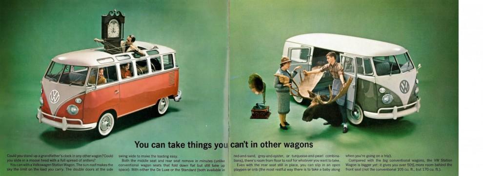 Volkswagenbussen - du vet ju aldrig om du råkar köpa en farfarsklocka eller måste ta med ditt älghuvud någonstans
