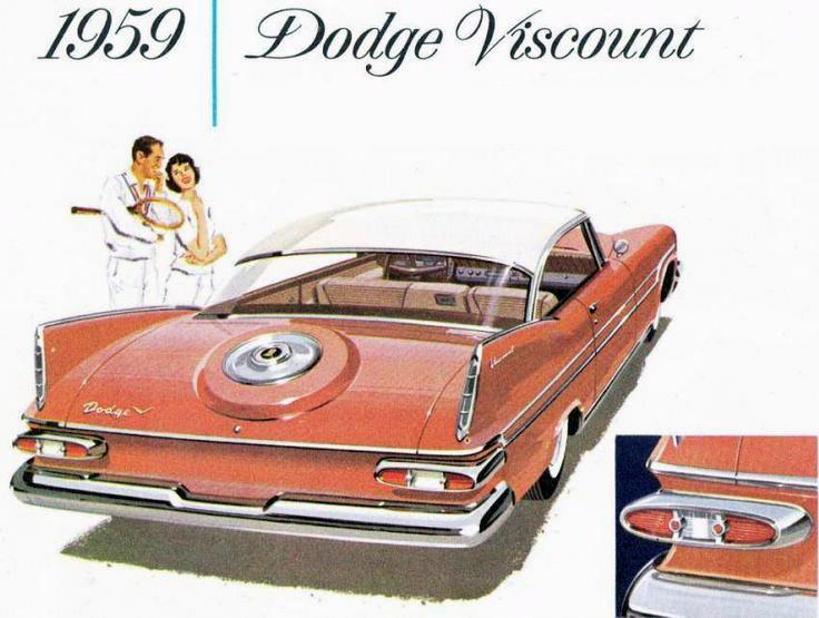 Dodge Viscount var en märklig modell. En Plymouth som såldes som Dodge i Kanada och på exportmarkander. Här motsvarade den Kingsway Custom. Viscount fanns bara modellåret 1959.