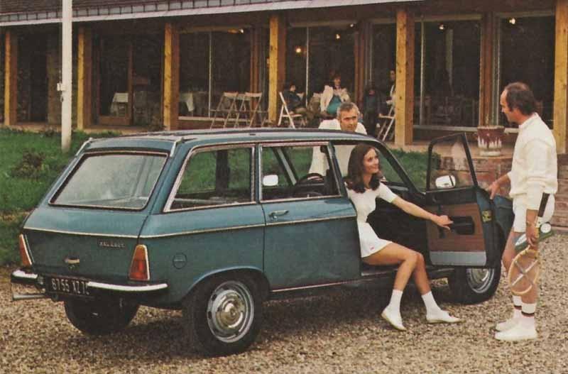 Peugeot 304 Break matchar bra som tennisbil. Break är ju ett uttryck i sporten också.
