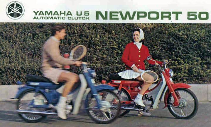 På väg till träningen med ettriga Yamaha Newport