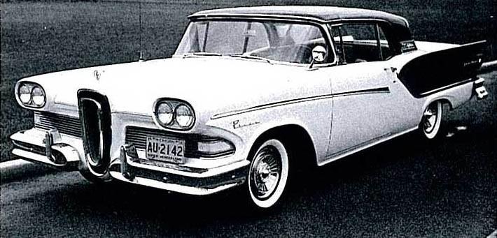 Åren 1957-59 gjordes Ford Fairline Skyliner. Bilen som hade ett helt fälbart plåttak.  Samam system porvades ut på Edsel 1958 men slopades.