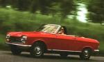 Röda franska bilar