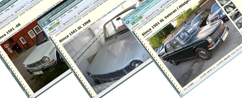 3 x Simca 1501 på Blocket