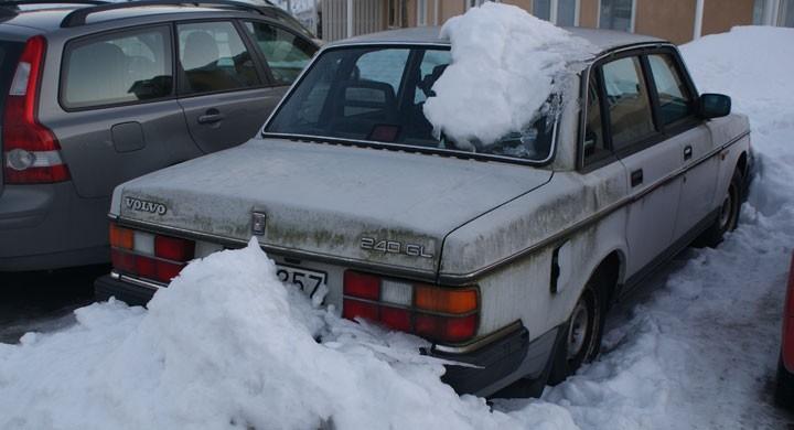 Volvo-fyndet i snödrivan