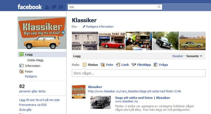 Klassiker på Facebook - Gilla oss