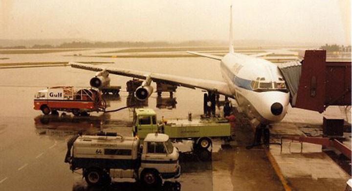 Flygrädd lyfter mot USA