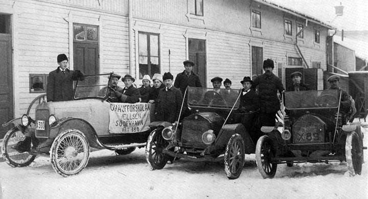 En vinterdag i bilskolan 1920