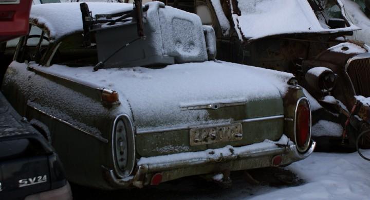 Vinterbilder från Jarmos bilskrot