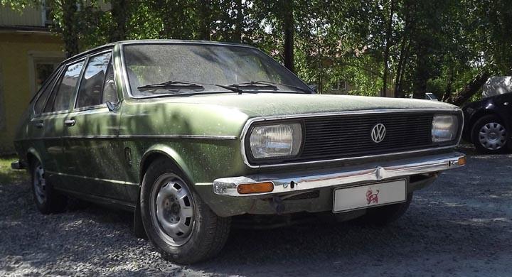 Välkamouflerad Volkswagen
