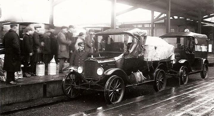 Avgång från Centralstationen 1920
