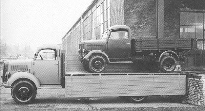 Lasta lastbil på lastbil på tyska