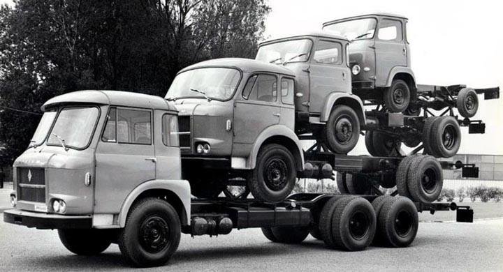 Lasta lastbil på lastbil på franska