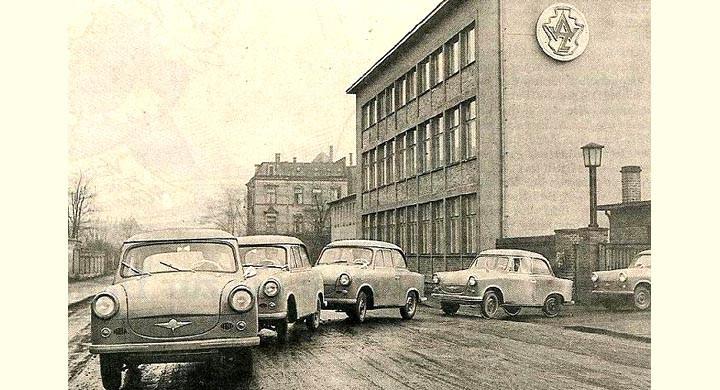En mulen dag i Zwickau 1958