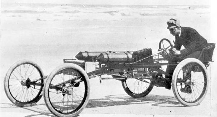 Hot rods på stranden 1903