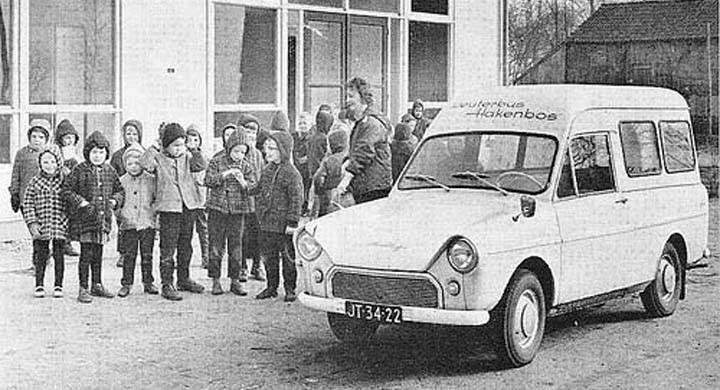Skolskjuts med rem 1963