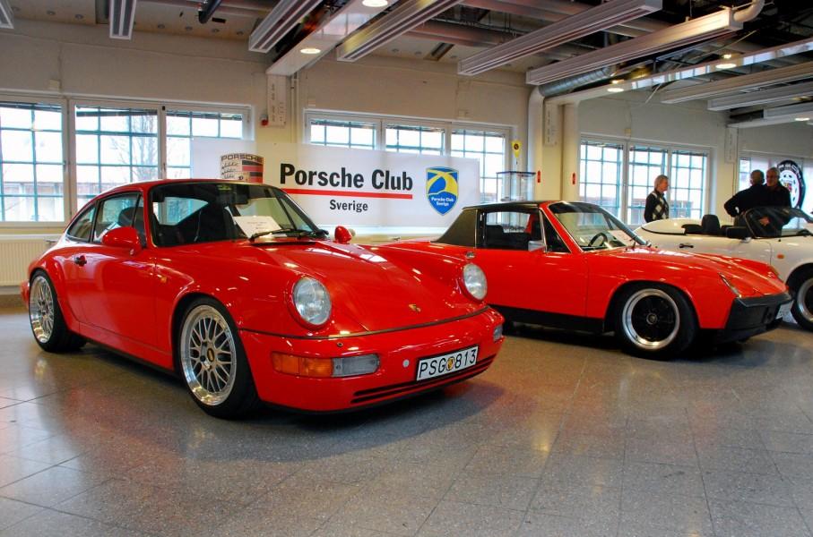 Porscheklubbens monter, kul att se att 914 lyfts fram!